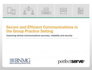 Secure and efficient communications in the group practice setting