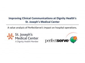 Improving clinical communications at St Joseph's medical center