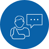 Patient circle icon blue