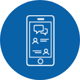 Secure Messaging blue icon