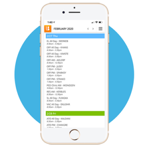 Physician Schedule on a Mobile Device