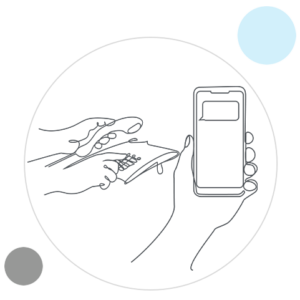 outline of mobile phone and landline